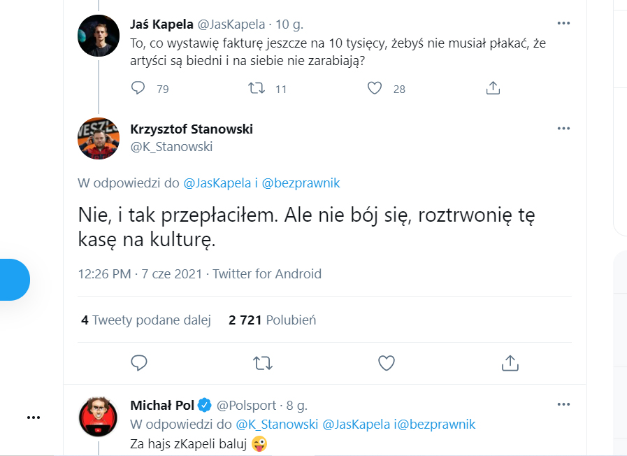 Jaś Kapela Krzysztof Stanowski zarobki Hejt Park YouTube